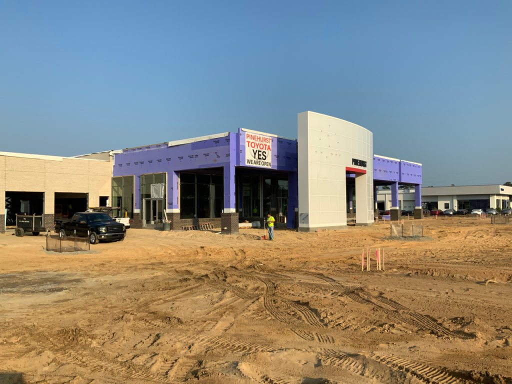 The car dealership is under construction. A well selected General Contractor will have an excellent Site Supervisor