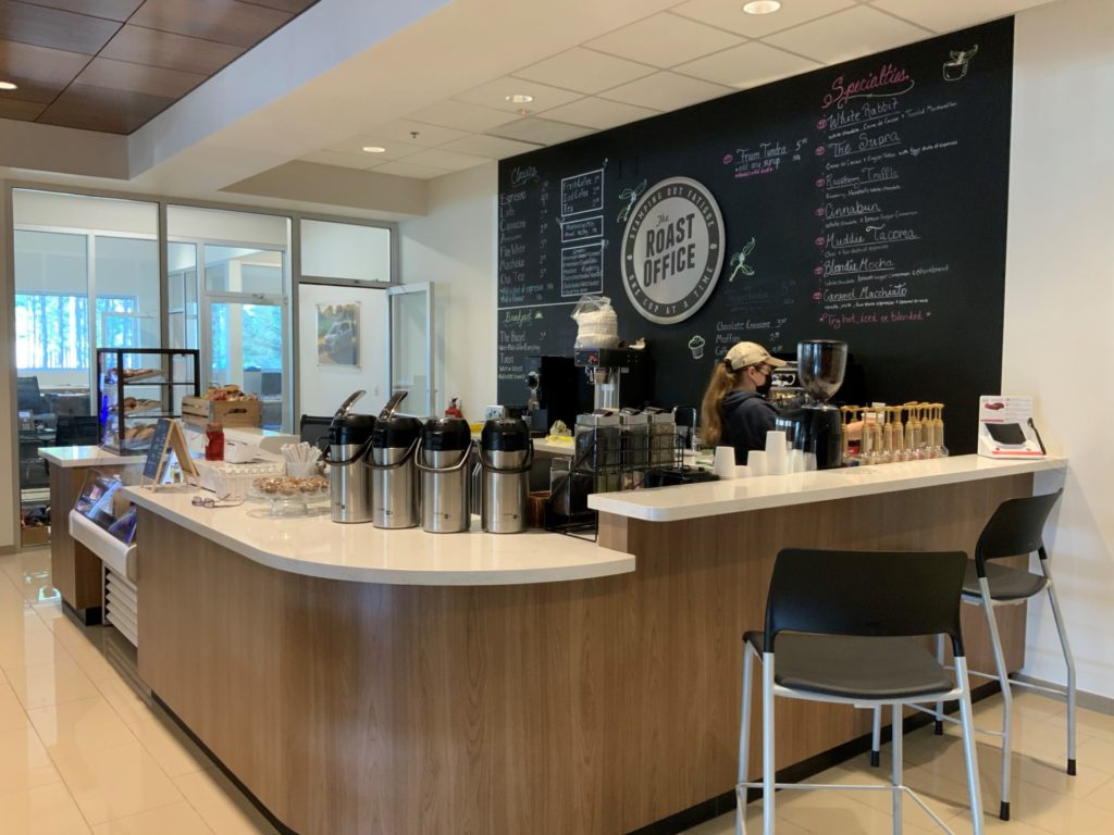 The Roast Office Cafe at Pinehurst Toyota in Southern Pines, NC. Partnering with local restaurants to provide fresh food options is why putting a cafe in your dealership is easier than you think